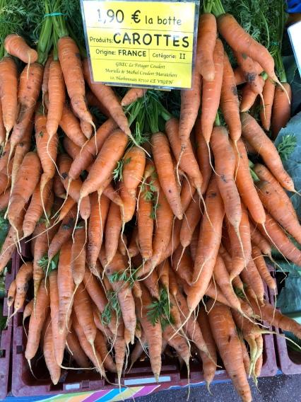 carottes nouvelles en vrac